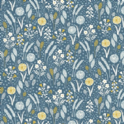 Grove by Makower UK - 6739 - Meadow Floral on Dark Blue  - 2161_B - Cotton Fabric